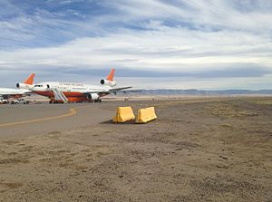 DC-10 Air Tanker - Tanker 912 next to Tanker 911 in February 2015