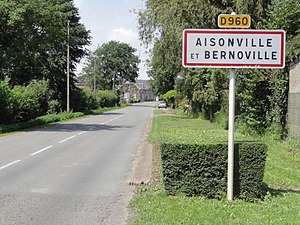 Aisonville-et-Bernoville - The entrance to the village