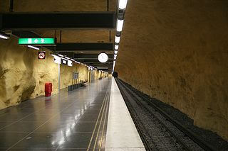 Akalla metro station Stockholm Metro station
