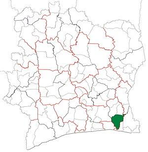 Alépé Department - Image: Alépé Department locator map Côte d'Ivoire