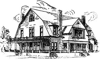 Confederate Memorial Park (Marbury, Alabama) - Drawing of the Alabama Confederate Soldiers Home, first published in the April 17, 1902 copy of the Blount County News-Dispatch.