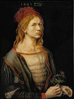 self-portrait by Albrecht Dürer in the Louvre