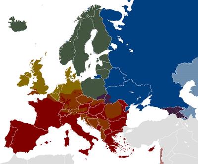 Aree di diffusione di alcune bevande alcoliche in Europa: ?? - vodka ?? - vino ?? - birra.