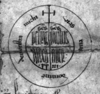 Rota (papal signature) - Rota of Pope Alexander III, AD 1175