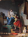 Alexandre-Evariste Fragonard - Raphaël reprenant la pose de son modèle.jpg