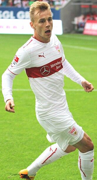 Alexandru Maxim - Maxim playing for VfB Stuttgart in 2013.