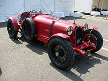 Photo d'une Alfa Romeo 8C 2300 Corto Monza statique.