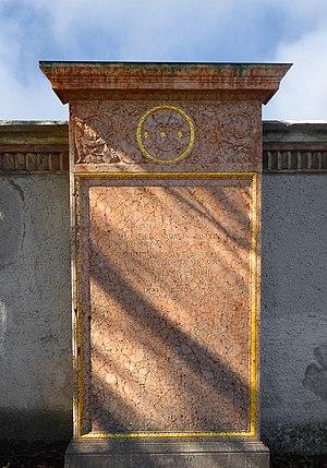 Alfred Sarasin-Iselin (1865–1953) Bankier, Mitbegründer der Sarasin & Cie, Politiker, Dr. h. c. der Univ. Basel, Grab auf dem Friedhof Wolfgottesacker, Basel