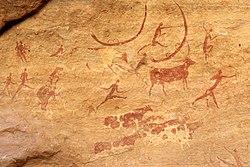 Peintures rupestres au Tassili n'Ajjer