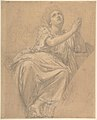 Allegorical Figure of the City of Piacenza, for a Pendentive in the Chapel of Saint-Roch, Church of Saint-Sulpice, Paris (recto); Studies for the Same Figure (verso) MET DP805010.jpg