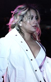 Ally Brooke performs at the Los Angeles County Fair Sep. 15 with Fifth Harmony (cropped).jpg