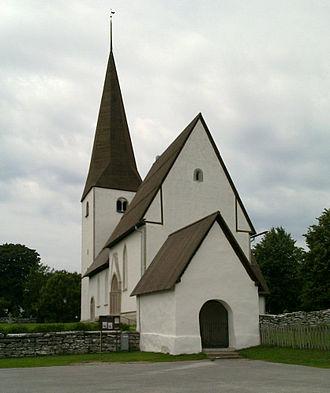 Alskog Church - Image: Alskogs kyrka Gotland total 1