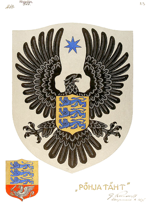 Coat of arms of Estonia - Image: Alternative Coat of arms of Estonia 1922 Author Günther Reindorff