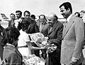 Amir-Abbas Hoveyda in Iraq - Saddam Hussein as host - 1975.jpg