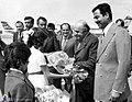 Amir-Abbas Hoveyda in Iraq - Saddam Hussein as host - 1975.jpg