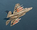 An F-35C Lightning II conducts external weapons tests. (40491967995).jpg