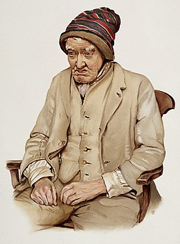 Description de l'image An old man diagnosed as suffering from senile dementia. Colo Wellcome L0026689.jpg.