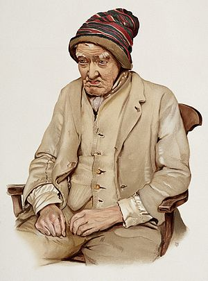 An old man diagnosed as suffering from senile dementia. Colo Wellcome L0026689.jpg