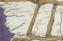 The map of ancient kingdoms of Colchis and Iberia