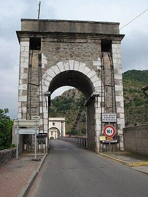 Andancette - The Marc Seguin suspension bridge over the Rhône