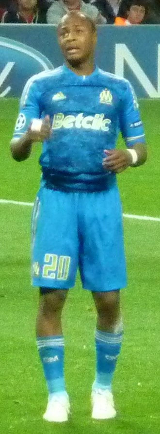 André Ayew - Ayew playing against Arsenal in the 2011–2012 UEFA Champions League