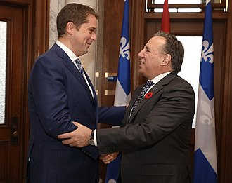 François Legault - Andrew Scheer with Legault in 2018