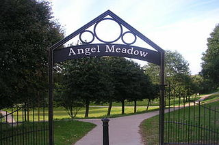 St Michaels Flags and Angel Meadow Park