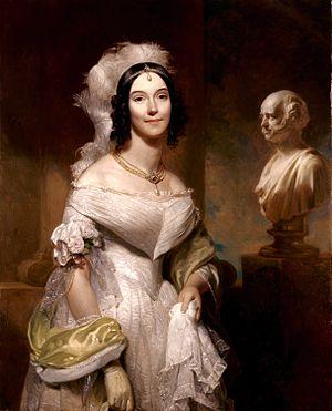 Portrait of Sarah Angelica Singleton Van Buren...