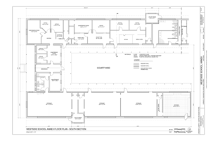 Annex Floor Plan - South Section - Westside School, Annex, Corner of Washington Avenue and D Street, Las Vegas, Clark County, NV HABS NV-65-A (sheet 2 of 9).png