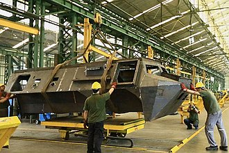 Anoa (armoured personnel carrier) - Pindad Anoa 2 hull construction. (note the emergency exit door at the rear)