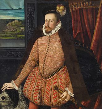 Peascod belly - Charles, Archduke of Austria, wearing a peascod bellied doublet in 1569