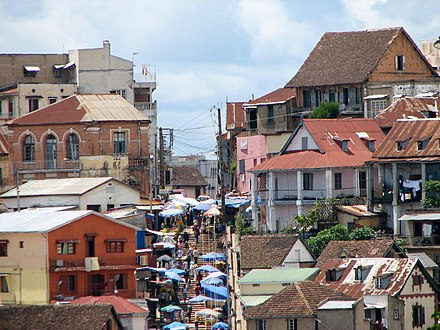 Antananarivo is the political and economic capital of Madagascar. Antananarivo06.jpg