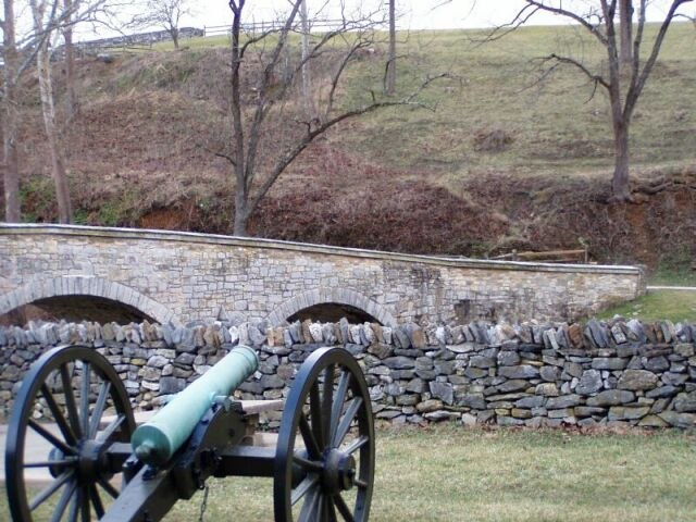 Antietam Burnside Bridge Union battery