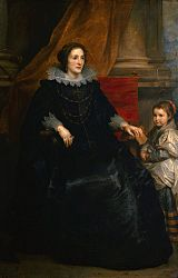 Anthony van Dyck: Portrait of a Lady with her Daughter