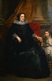 Antoon van Dyck - Portet van een voorname dame met haar dochter.jpg
