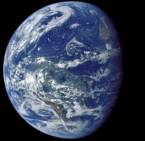 Jorden sedd från Apollo 15.