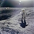Apollo 16, Duke on Crater's Edge - Flickr - NASA on The Commons.jpg