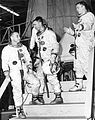Apollo 1 - Grissom, Cunningham and Schweickart at the North American Aviation plant.jpg