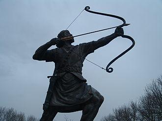 Arash - The statue of Arash the Archer in Sa'dabad Palace, Tehran