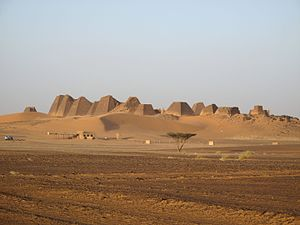 Nubian pyramids - Image: Archaeological Sites of the Island of Meroe 114970