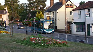 Horsell - Image: Arriva Guildford & West Surrey 4017 GN58 BUA and Horsell Crown