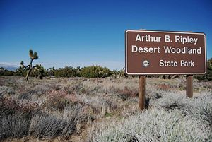 Arthur B. Ripley Desert Woodland State Park - The state park entrance and landscape.
