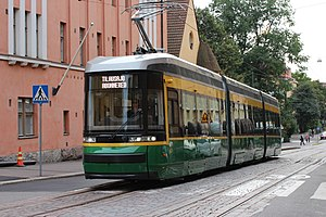 Artic (tram) - Image: Artic (tram) in Helsinki