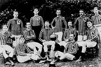 History of Aston Villa F.C. (1874–1961) - Aston Villa players posing with the 1887 FA Cup trophy