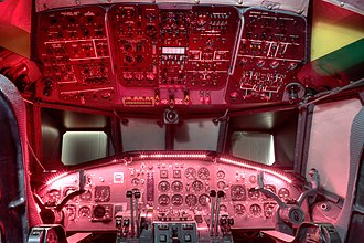Breguet Atlantic - Cockpit of an Atlantic simulator