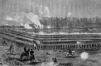 Theodore R. Davis - Image: Attack on the Enemy's Centre, Near Marietta, Georgia