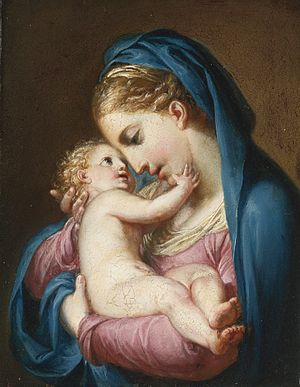 Antonio Cavallucci - The Madonna Embracing the Christ Child, attributed.