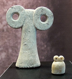 Tell Brak - Eye figurines from the Eye Temple.