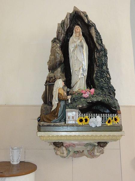 Aulnois sous Vertuzey (Meuse) Église Saint-Sébastien grotte de Lourdes