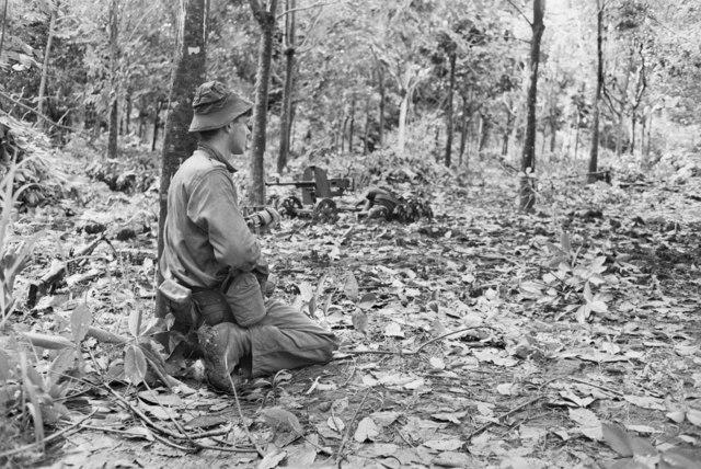Australian soldier on the Long Tan battlefield on 19 August 1966